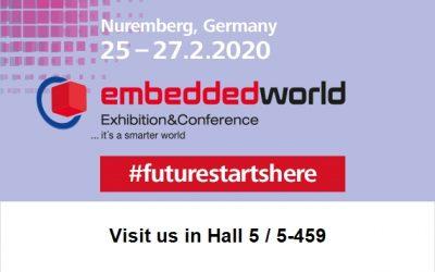 Visit us at embedded world in Nuremberg