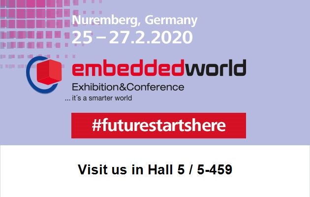 Visit us at embedded world in Nuremberg